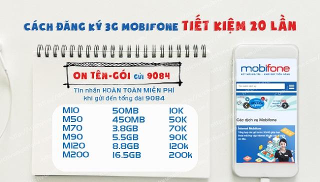 Cách đăng ký 3G MobiFone tháng 50K nhận dung lượng siêu khủng