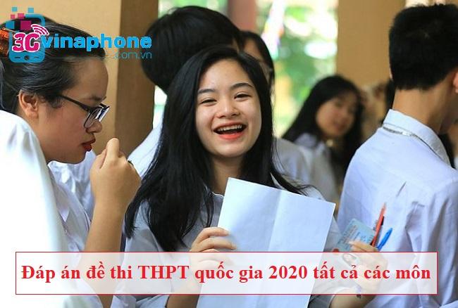 Đáp án đề thi THPT quốc gia